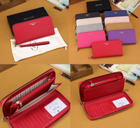 Wholesale Business Card Holder Large Capacity - The second layer of leather wallets Designer high-end brand wallets multiple colors optional 21.5*10*2 large capacity wallet with box