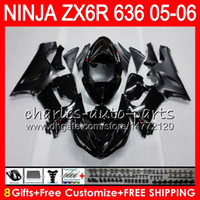 Wholesale kawasaki ninja zx6r black for sale - 8Gifts Colors Bodywork For KAWASAKI NINJA ZX ZX R CC Stock black NO25 ZX ZX R ZX636 ZX6R Fairing kit