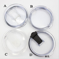 Wholesale 4Style oz YETI Cups Lid Rambler Tumbler Transparent Clear Lids Cover Cars Beer Mug Splash Spill Proof Covers