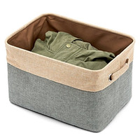 Wholesale Baskets For Toys - Home Essentials Fabric Collapsible Convenient Storage Bin Basket with Rope Handle - For Office, Bedroom, Closet, Toys, Laundry