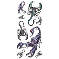 Wholesale Tattoos Scorpions - Wholesale- 2016 New 3D Scorpion High Quality Water Transfer Waterproof Temporary Tattoo Sticker Body Art Sexy Makeup Colored Drawing
