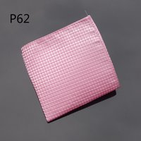 Wholesale Hot Pink Cravat - hot new Hankerchief Checked Pink Hanky Men Tie Jacquard Woven Pocket Square Fashion