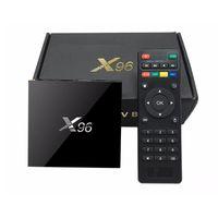 Wholesale Usb Lan Tv Card - X96 TV Box Amlogic S905X Android 6.0 Set Top BOX Quad Core 2.4GHz WiFi HDMI 2.0 with USB 2.0 AV LAN TF Card Slot Set-top Box