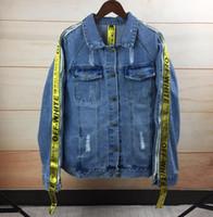 Wholesale Korean Jeans Jacket Women - 2017 autumn new men's and women's jeans jacket, blue retro loose jeans coat, Korean version of College wind