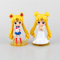 Wholesale High 15 Cm - Sailor Moon Usagi Tsukino Qposket High Quality Version 15 cm Model Anime PVC Figurine Children Gift
