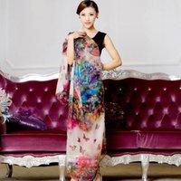 Wholesale Digital Printing Silk Scarves - Wholesale- 2016 winter 100% real silk scarf wrap shawl for women female all-match long design digital printed scarves summer