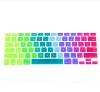 "Wholesale Laptops Cover Skin - New products hot sale Colorful Silicone Keyboard Cover Keypad Skin Protector For Apple Macbook 11""13"" 15"" Rainbow Laptop Keyboard US Version"
