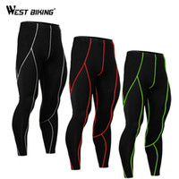 Wholesale Tights Bike Orange Men - Wholesale- WEST BIKING Running Long Pants Spring Autumn Ropa Ciclismo Bike Cycling Legging Running Fitness Compression Tights For Men