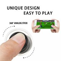 Wholesale Ipad Joystick Games - Hot Joystick for Mobile Phone Game Joy Handle Controller Dual-Stick Cheap Popular Toy Mini Roker Sucker Joyful Games for Smartphone and Ipad