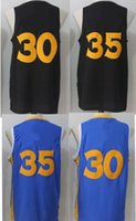 Wholesale Xxl Name Brand Shirts - 2017 2018 New Brand Basketball Jerseys 30 Stephen Curry 35 Kevin Durant with player name Stitched Shirts
