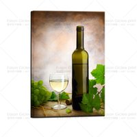 Wholesale modern wine wall art paintings - Large canvas prints wine picture wall art painting for kitchen home decor modern decorative pictures photos on canvas