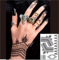 BH09 Temporary Black Classic Henna Waterproof Women Body Tattoo Stickers