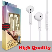 Wholesale s6 earbuds online – 2017 High Quality Earphone For S6 Earphones Earbuds Headset In Ear wired With Mic Volume Control mm With Retail Box