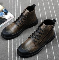 Wholesale Boots Men New - Europe America New Men Martin boots bottom of the thick lace-up fashion breathable High help Leather boots