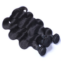 Barato Cabeça De Tecelagem Barata-Cheap High Quality Unprocessed 8-30 inches Malásia Body Wave Full Head Hair Tela Natural Color Virgem humana Remy Hair Extensions