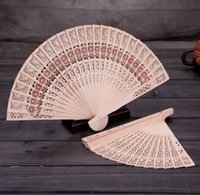 Wholesale Handmade Fans For Party - Bridal Wedding Fans Chinese Wooden Fans Bridal Accessories Handmade 8'' Fancy Cheap Wedding Favours Small Gifts for Guests Ladies Hand Fans