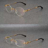 gafas de corazón masculino al por mayor-Nuevo corazón de cuervo sus monturas sin montura monturas de anteojos hombres marea redonda cuadrada gafas de miopía masculinas monturas de gafas monturas de gafas graduadas
