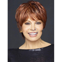 """Wholesale Cheap Short Afro Wigs - Short Lady Wig 6"""" Highlight Hairstyle Female Cheap Short Curly Wigs For Elderly Women Afro American Wig Realistic Wig"""