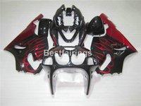 черный красный zx7r обтекатель оптовых-Топ-продажи пластиковые обтекатель комплект для Kawasaki Ninja ZX7R 96 97 98 99 00-03 красное пламя черный обтекатели zx7r 1996-2003 TY24