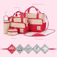 Wholesale Maternity Nursing Set - Mommy Bags Nappies Handbags Mother Backpack Diaper Maternity Backpacks Pregnant Desinger Nursing Travel Bags 8 Colors 20 Sets OOA2584