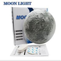 Wholesale moon bedroom lighting resale online - LED Wall Moon Night Light Lamp Sensor Light With Remote Control LED Night Light Decoration Bedroom LED Indoor Lighting