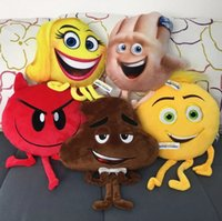 Wholesale 2017 The Emoji Movie Plush Toys Soft Dolls Stuffed Animals Toys for Kids Poo Devil Children Xmas Gifts Kids Stuffed Toys fast shipping