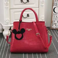 Wholesale Red Patterned Ribbon - High quality real leather fashion snake pattern women handbags designer shoulder bag high-capacity package high-end brand bags