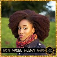 doğal afro örgü toptan satış-8a Brezilyalı Remy Afro Kinky Bakire Saç 3 adet Brezilyalı Kısa Doğal Siyah Kinky Kıvırcık Afro Curl İnsan Saç Dokuma 8