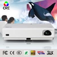 dlp construída projector wi-fi 3d venda por atacado-Atacado- 2016 CRE X3001 Full HD portátil DLP mini projetor projetor 3D levou tv beamer Build-in bateria WIFI Android 4.4 Bluetooth