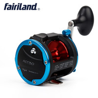Wholesale bait free reels - 4BB Drum Trolling Reel Colors A B Kg Drag Power Bait casting Sea Boat Fishing Reel Right hand fishing tools free fish accessory