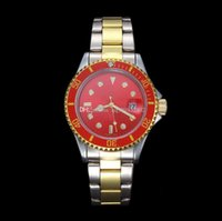 Wholesale Gold Men S Luxury Watches - NEW HOT Fashion Men Luxury Brand Automatic Watch Business Sports Quartz 38mm male Clock man s Red gifts Free shipping relogio masculino