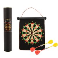 Wholesale Target Darts Wholesale - magnetic dart Children's interactive toy flocking dart target wall-hang type safety fitness training Double - face flocking