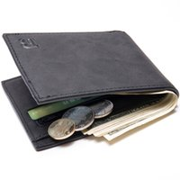 Wholesale Small Leather Pocket Change Holder - Quality Baborry Fashion New Men's Wallets Black Color Quality Soft Documents ID Card Holder Small Zipper Coin Change Thin Purse Wallet