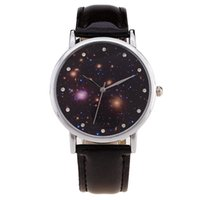 Wholesale Quartz Photos - Wholesale- Watch Moon Photo Unisex watch Women Men Wristwatch Starry Sky Space Watch Little Star Wristwatch Special Birthday Gift saat