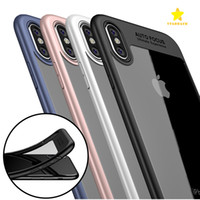 Wholesale Iphone Black Covers - For iPhone 8 Plus iPhone X Phone Case Back Cover Case TPU Clear Shockproof Case Phone Protector for Iphone 8