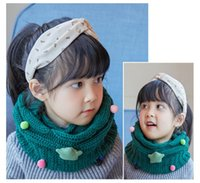 Unisex Children Ring Scarf Shawl Star Soft Knited Neck Warmer Wrap Fato grosseiro Boy Girl Kids Neckerchief Winter Warm Scarves