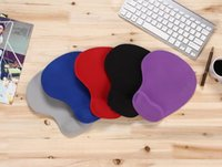 Wholesale Soft Silicone Pad - New Pure Color Silicone Skid Resistance Memory Foam 2017 Soft Comfort Wrist Rest Support Mouse Pad Mice Pad Gaming Mousepad