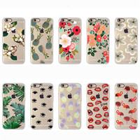 Wholesale Nice Phone Cases - Nice Colorful Painting Phone Case For iphone 7 6s 6 plus case phone Soft Silicone TUP Clear Case Shell Cover OPP BAG