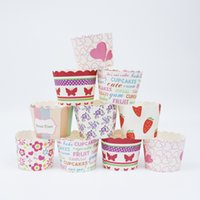 Wholesale High Quality Cupcake Papers - Multi-colors High Quality Cupcakes Paper Muffin Cake Cup Case 4.5x5cm Holiday Party Dessert Paper Baking Cups Cake Wrappers Wholesale 500PCS