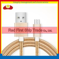 Wholesale Housing For Lg - Metal Housing Braided Micro USB Cable Durable Tinning High Speed Charging USB Cable for Android Smart Phone
