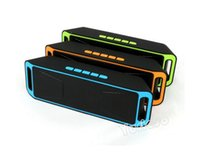 Wholesale Speakers Stereo Subwoofers - Portable Bluetooth Mini Speaker SC208 Stereo Wireless Subwoofers Hifi Super Bass TF MP3 Music Player FM Radio Mic Aux for Phone Tablet PC