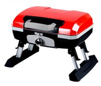 Camping Stoves outdoor barbecue designs - BBQ Barbecue Portable Tabletop Propane Gas Grills with S S Burner Suitcase Design for Camping Outdoor Cooking