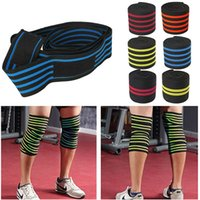 Wholesale Weight Equipment Wholesalers - Wholesale- 1pc 200*8CM Knee Wraps Men's Fitness Weight Lifting Sports Nylon Elastic Knee Bandages Squats Training Equipment Accessories