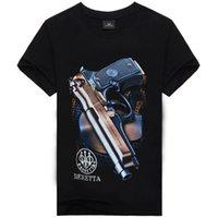 новые печатные футболки оптовых-3D пистолет печати мужчин одежда t рубашки для мужчин летние шорты рукав черепа спортивные мужчины t рубашки новый прилив хип-хоп мужской tshirts бесплатная доставка