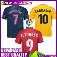 Wholesale F 18 - thai quality 2017 2018 F TORRES Soccer jersey 17 18 GRIEZMANN koke GABI SAUL CARRASCO home away 17 18 football shirts