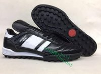 Wholesale Modern Boots - 2017 New Mundial Team Modern Craft Astro TF Turf Soccer Shoes Football Boots Cheap Soccer Boots Mens Soccer Cleats For Men 2017 Black