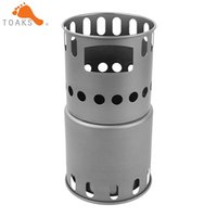 Camping Stoves outdoor wood oil - TOAKS STV Titanium Backpacking Wood Burning Stove for Portable Outdoor Equipment Camping Travelling Picnic Weight g
