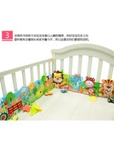 Wholesale Giraffe Books - Wholesale- 78 cm Babys Bed revolves cloth book blanket Toys Cute Lion Giraffe Animal Toddlers Learning soft early Education Toys for kids