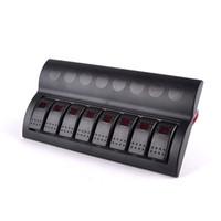 Wholesale Rocker Panels - For RV ATV car truck boat switch panel boat 8 gang led rocker switch panel