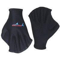 Wholesale Webbed Swimming Gloves - Wholesale- Free Shipping diving Gloves Foam rubber Flippers Webbed dive glove Swimming equipment swim accesories